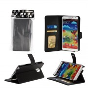 Bear Motion Premium Folio Case for Samsung Galaxy Note 3 Note III - Black