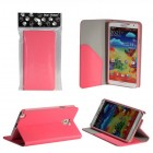 Bear Motion Premium Silky Folio Case for Samsung Galaxy Note 3 - Pink