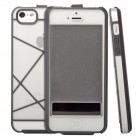 Poetic Atmosphere Flip Case for iPhone 5/5S - Clear/Gray (Original)