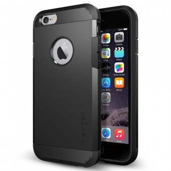 Spigen Tough Armor Case for iPhone 6 (4.7-Inch) SF Smooth Black