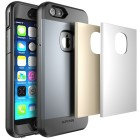 Supcase Full body Rugged Water Resistant Case for Apple iPhone 6 (4.7), Built-in Screen Protector and 3 Interchangeable Covers - Gray Silver Gold