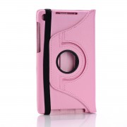 360 Rotating Leather Case for Nexus 7 FHD - Pink
