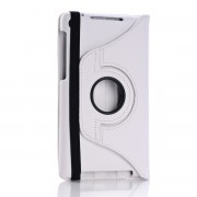360 Rotating Leather Case for Nexus 7 FHD - White