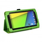 PU Folio Leather Case for Nexus 7 FHD - Green
