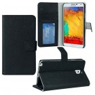 Abacus24-7 Leather Wallet Flip Case for Samsung Galaxy Note 3 N9000 - Black