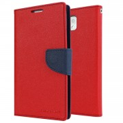 Mercury Goospery Ultra Slim Wallet Case for Samsung Galaxy Note 3 - Red/Navy