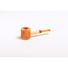Miniature Corn Cob Pipe - Amber