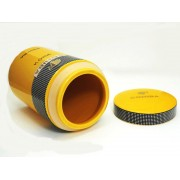 Yellow Ceramic Porcelain Cohiba Siglo VI Cigar Jar Humidor