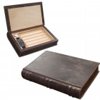 The Novelist Leather Book 5ct Humidor